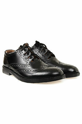 New Black Endrick Ghillie Brogues, Scottish Kilt Shoes - Available in Sizes 6-11