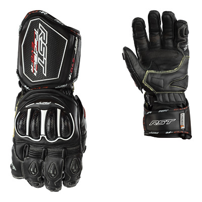RST Tractech Evo 'R' CE Approved Kangaroo Race Gloves Black FREE SNUG INCLUDED