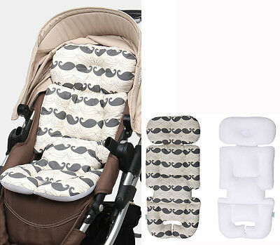 Stroller Liner Car Seat Pad Air Mesh Cover Cushion For 4 Seasons Baby Kid Whale