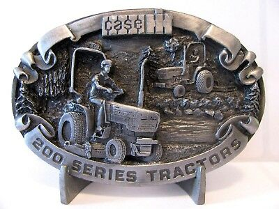 Case IH 235 245 255 266 275  200 Series Compact Tractor 1988 Pewter Belt Buckle