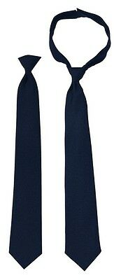 "Police Issue Clip-on Black or Dark Navy Blue 18"" or 20"", Polyester, Solid"