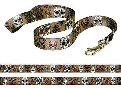 GREY SKULL HEAD GOTH EMO PUNK Quality SATIN lanyard neck strap mobile id keys