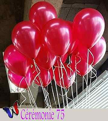 Lot De 20 Ballons Rouges Nacres Decoration Mariage Bapteme Fete
