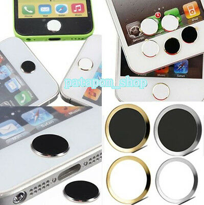 1XMetal Aluminum Home Button Sticker Keypad Case Cover Skin for iPhone 6 6s 5S 5