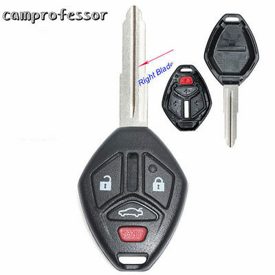 New Uncut Replacement Shell Remote key Case Fob 4 Button for Mitsubishi Eclipse