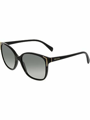 Prada Women's Gradient PR01OS-1AB3M1-55 Black Cat Eye Sunglasses