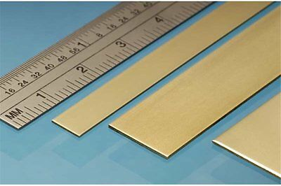 ALBION ALLOYS BS5M Laiton - Brass Strip 12 x 0.6 mm (4p.)