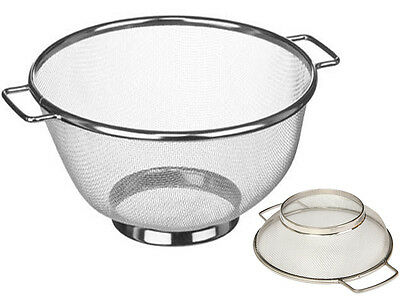Stainless Steel Dual Handle Sieve Draining Veg Pasta Baking Cooking Kitchen Twin