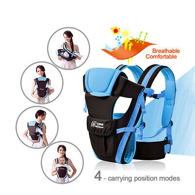 Ergonomic Breathable Infant Baby Carrier Adjustable Wrap Sling Newborn Backpack