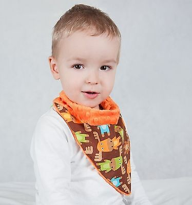 Luxury soft MINKY and cotton scarf, bandana, bib- Reversible