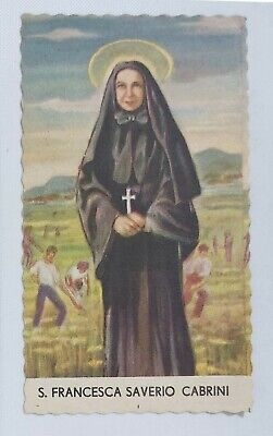 17361 Holy card - Santino 0119 - cm 11 x 6.5 - S.ta Francesca Saverio Cabrini