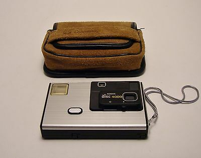 Vintage Kodak Disc 4000 Camera with Leather Carry Case