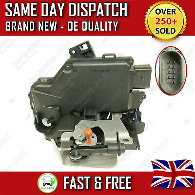 Front Right Driver Side Door Lock Mechanism For Audi A6 C5 & A6 Allroad C6 9 Pin