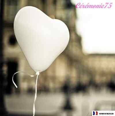 Lot De 10 Ballons Coeur Blancs Decoration Mariage Bapteme Fete