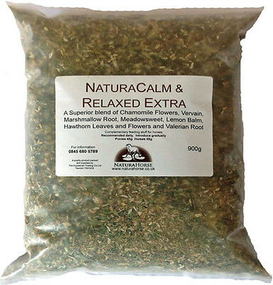 NaturaCalm & Relaxed Extra 900g pure blend of 8 calming herbs for horses