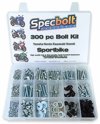 300pc Bolt Kit KAWASAKI NINJA GPZ ZZR ZX 250 300 500 550 650 750 1000 1100 ZX10