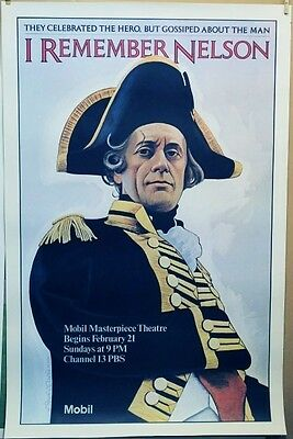 """Mobil Masterpiece theatre original 30"""" x 46"""" poster """"I Remember Nelson"""""""