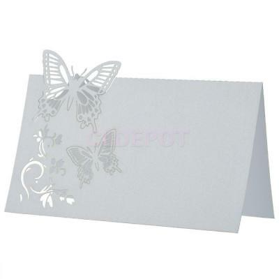 50pcs Butterfly Place Cards Wedding Birthday Baby shower Party Table Decoration