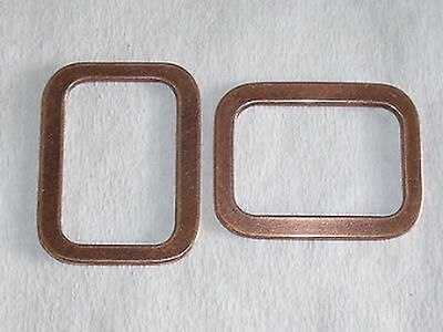 8 Piece Rectangle Rings Loop strap 38 mm copper stainless NEW PRODUCT #418#