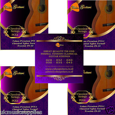 Coban Guitars BIG Value 50 Packets Great Savings Classical Nylon 28-43 Strings.