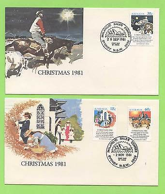 Australia 1981 two Christmas First Day Covers
