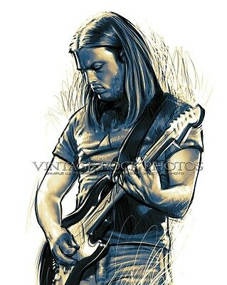"David Gilmour Pink Floyd Photo 8x10 or 8x12"" Ltd Ed Studio Design Art Print 26a"