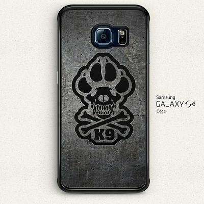 K9 Paw Decal K9 Skull Decal Hard Cover for Samsung Galaxy S6 Edge Case