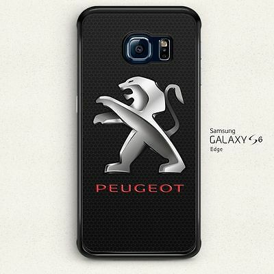 Peugeot Steel Car With Lion Logo Hard Case Cover for Samsung Galaxy S6 Edge