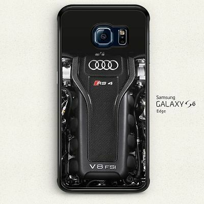 Audi RS4 V8 FSi Engine Hard Case Cover for Samsung Galaxy S6 Edge