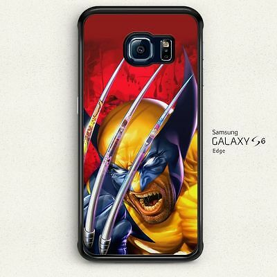 Wolverine X-Men Art Collage Hard Case Cover for Samsung Galaxy S6 Edge