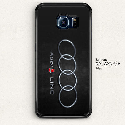 Cool Audi S Line Logo Hard Case Cover for Samsung Galaxy S6 Edge
