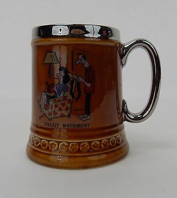"Lord Nelson Pottery Mug/Stein ""Holely Matrimony"" Hand Crafted in England"