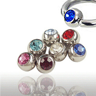 Piercing Piercing ball with crystal in 5mm