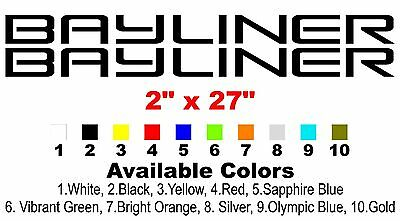 Bayliner Boat Decals Left  Right  X  Custom Vinyl Decals - Bayliner boat decals