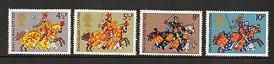 GB 1974 Medieval Warriors unmounted mint set stamps