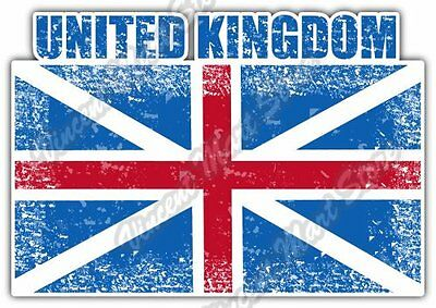 "United Kingdom Grunge Retro Flag Car Bumper Window Vinyl Sticker Decal 5""X4"""