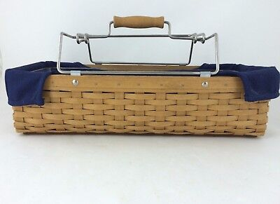 Longaberger 2004 Household Caddy Toolbox Basket Combo Divided Protector
