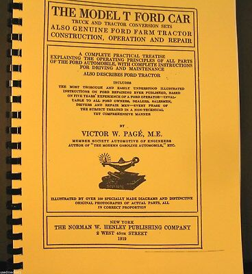 1919 The Model T G Ford Car Truck & Tractor Conversions sets Also Genuine Ford