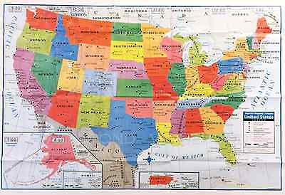 Large Map Of United States.Usa Us Map Poster Size Wall Decoration Large Map Of United States 40
