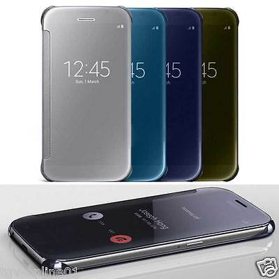 Shockproof Luxury Flip Mirror Hard Clear Case Slim Cover For iPhone 6 / 6S Plus