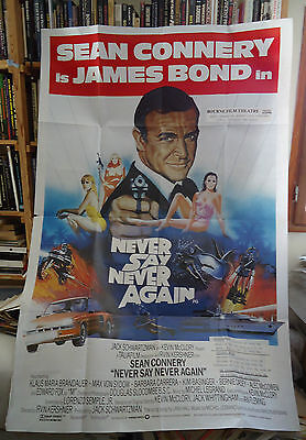 JAMES BOND/NEVER SAY NEVER AGAIN/ british 40X60 poster