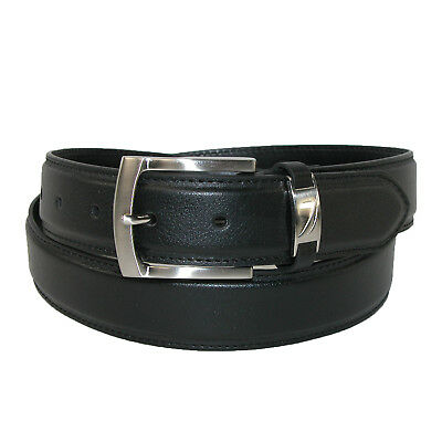 New Nautica Men's Leather 40mm Belt with Logo Keeper