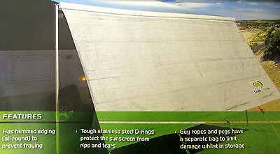 MOTORHOME AWNING BLOCKER FRONT PANEL 335cm SUNSCREEN with CARRY BAG