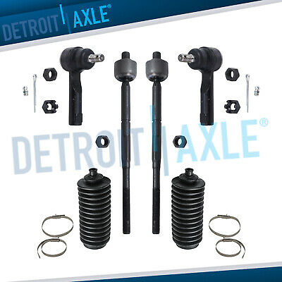 Brand New 6pc Inner & Outer Tie Rod + Tie Rod Boots for Nissan Sentra and 200SX