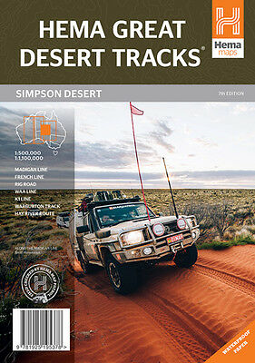 Hema Maps Great Desert Tracks Simpson Folded Map 4WD Camping 9781925195378