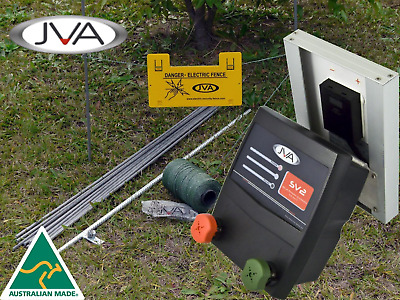 JVA SV2 Kit - Solar Electric Fence Energizer PLUS hardware