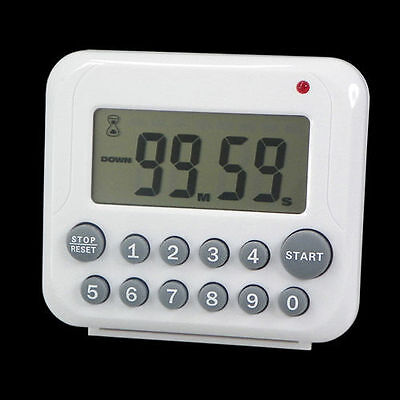Digital Kitchen Timer Cooking LCD Count Up Down Magnetic Loud Alarm Clock 12 Key