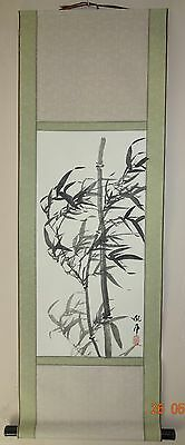 Traditional Chinese Bamboo Scroll Painting
