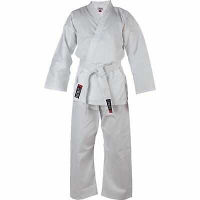Blitz Adult 100% Cotton Student Karate Suit GI Aikido - White