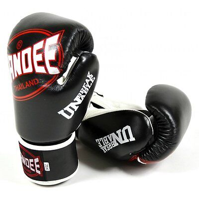 Sandee Cool-Tec Kids Muay Thai Boxing Gloves Sparring MMA Childrens - Black